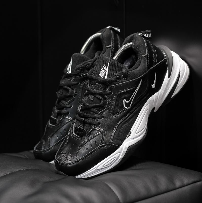 Nike m2k tekno black мужские кроссовки с мехом зимние теплые ч...
