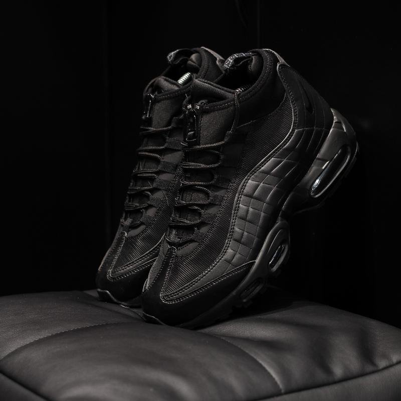 Nike air max 95 sneakrboot winter black шикарные мужские ботин...