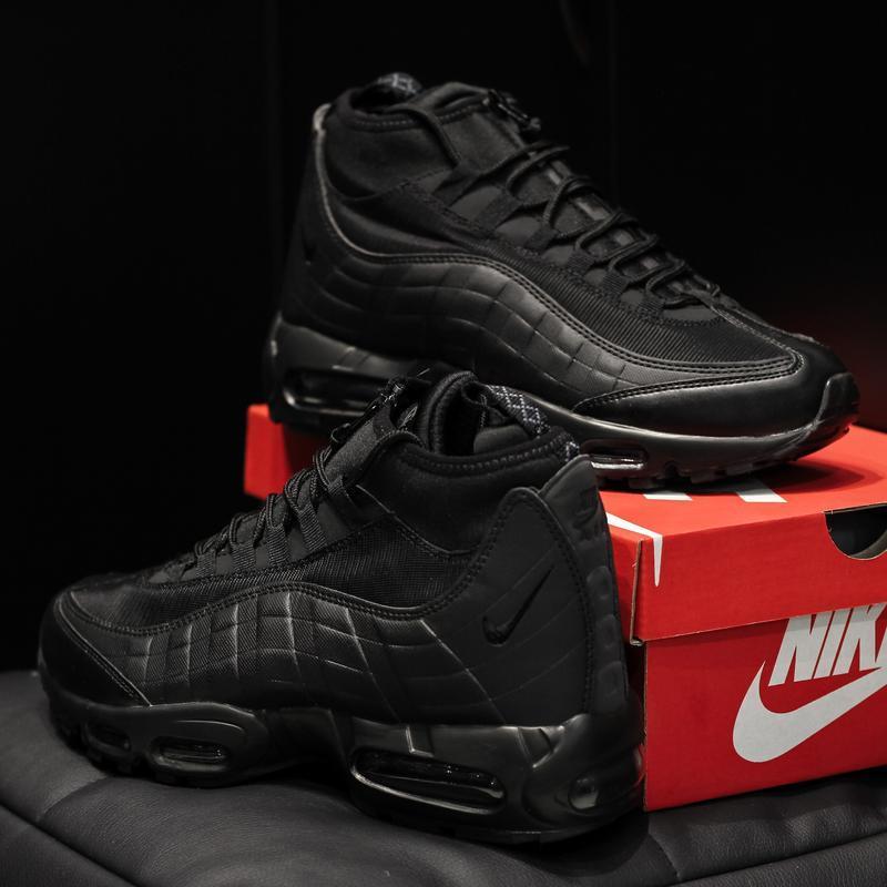 Nike air max 95 sneakrboot winter black шикарные мужские ботин... - Фото 3