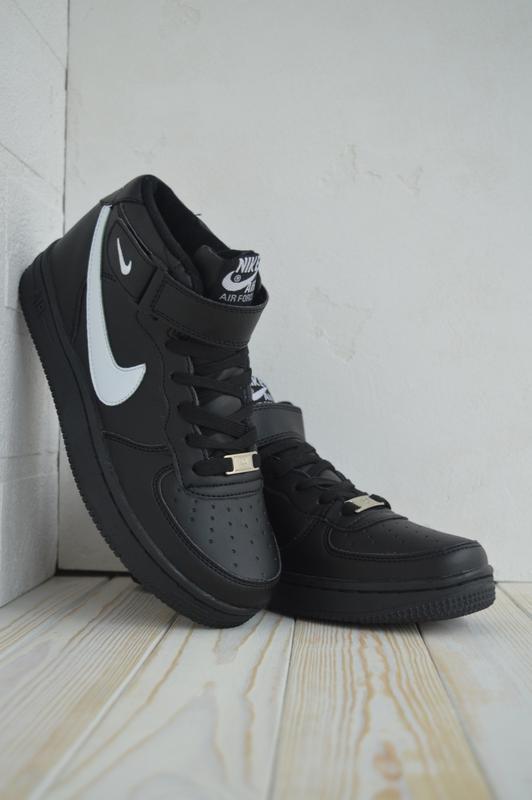 Nike air force 1 high шикарные женские кроссовки с мехом зимни...
