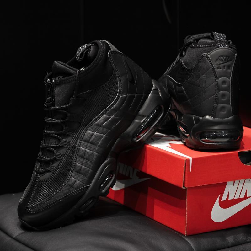 Nike air max 95 sneakrboot winter black шикарные мужские ботин... - Фото 4
