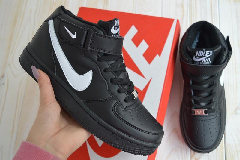 Nike air force 1 high шикарные женские кроссовки с мехом зимни... - Фото 3