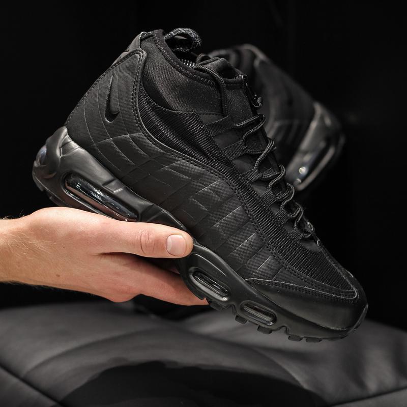 Nike air max 95 sneakrboot winter black шикарные мужские ботин... - Фото 5