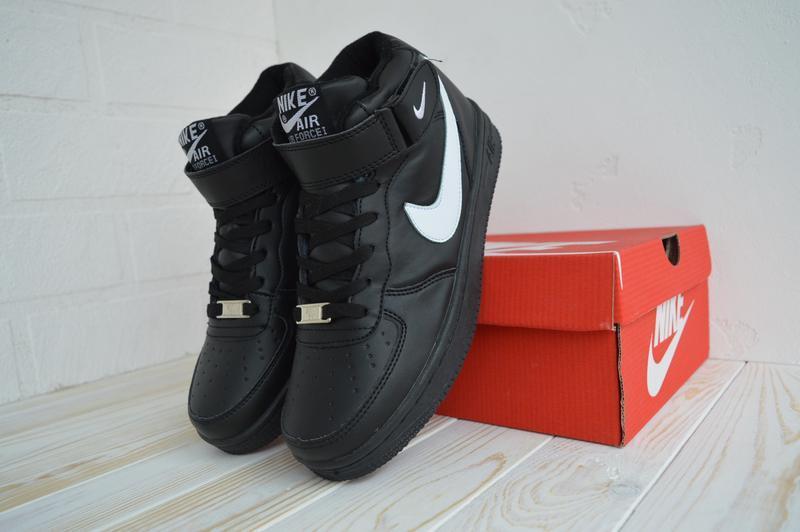 Nike air force 1 high шикарные женские кроссовки с мехом зимни... - Фото 4