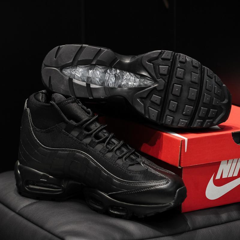Nike air max 95 sneakrboot winter black шикарные мужские ботин... - Фото 6