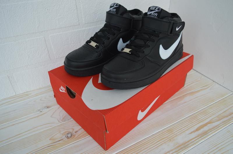 Nike air force 1 high шикарные женские кроссовки с мехом зимни... - Фото 5