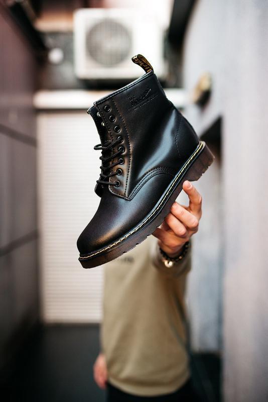 Dr. martens 1460 black чёрные с мехом шикарные женские ботинки...