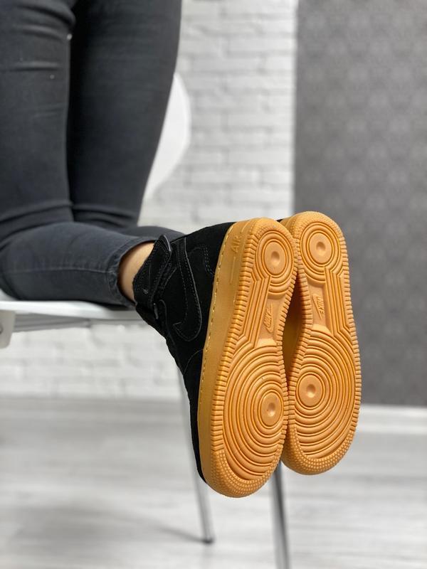 Nike air force 1 high winter шикарные женские кроссовки с мехо... - Фото 2