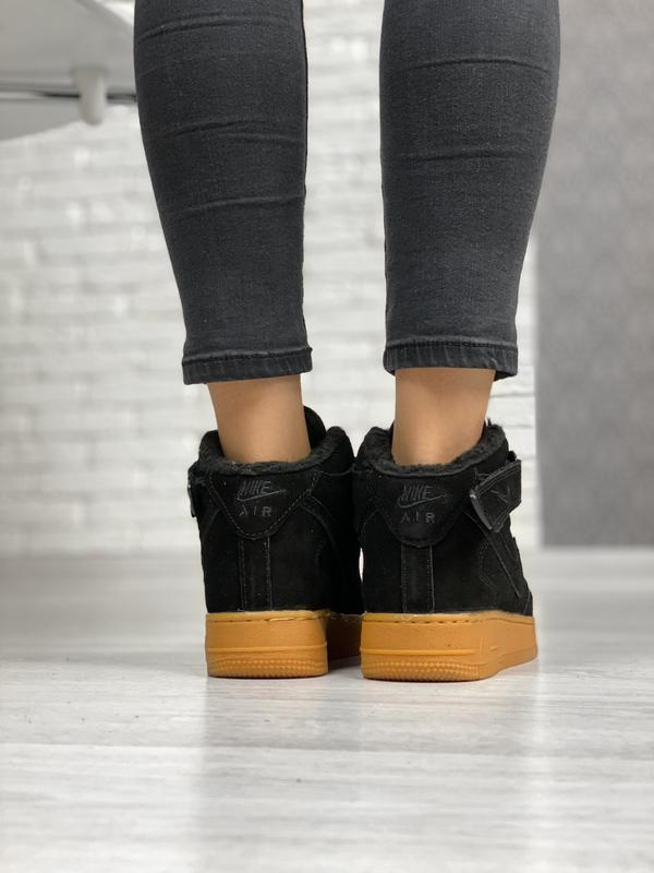 Nike air force 1 high winter шикарные женские кроссовки с мехо... - Фото 4