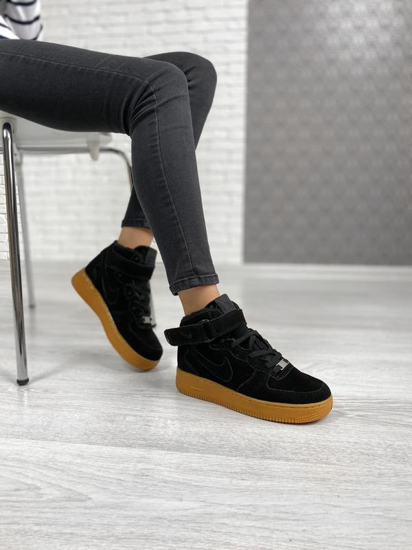 Nike air force 1 high winter шикарные женские кроссовки с мехо... - Фото 5