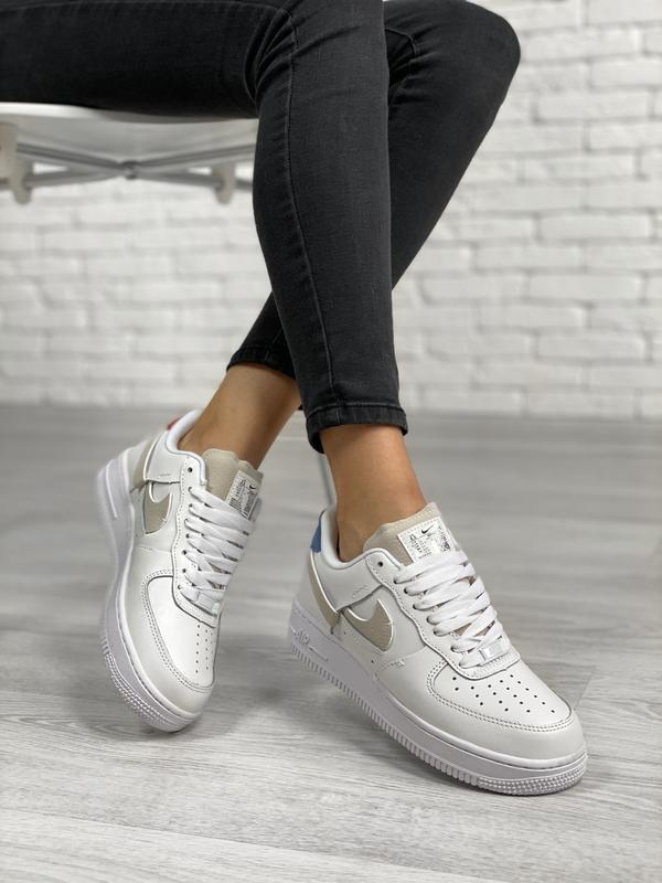 Nike air force 1 low white шикарные женские кроссовки белые цв... - Фото 3