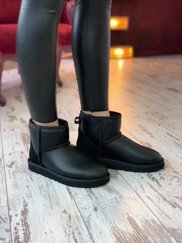 Ugg classic ii mini black шикарные женские сапоги угги теплые ... - Фото 2