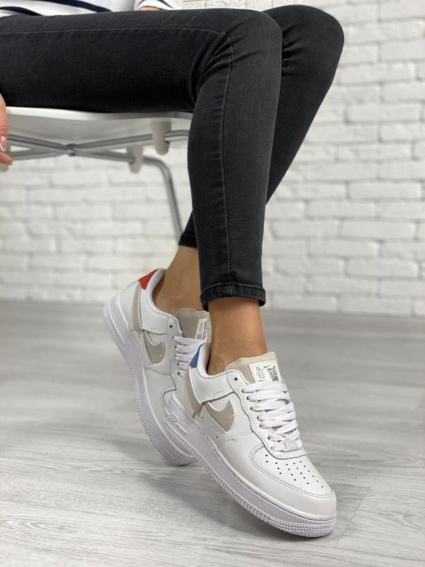 Nike air force 1 low white шикарные женские кроссовки белые цв... - Фото 4
