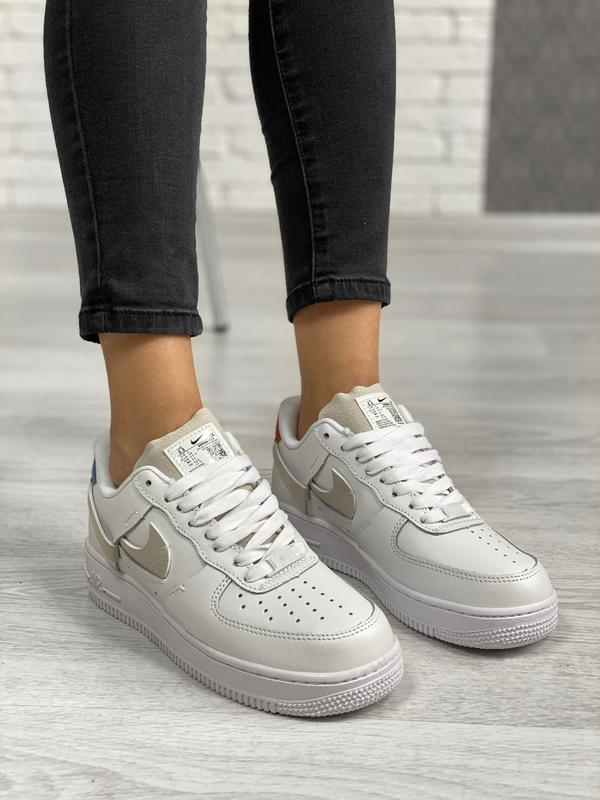 Nike air force 1 low white шикарные женские кроссовки белые цв... - Фото 5