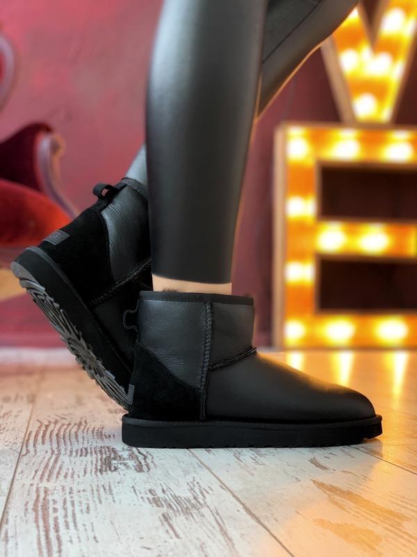 Ugg classic ii mini black шикарные женские сапоги угги теплые ... - Фото 3