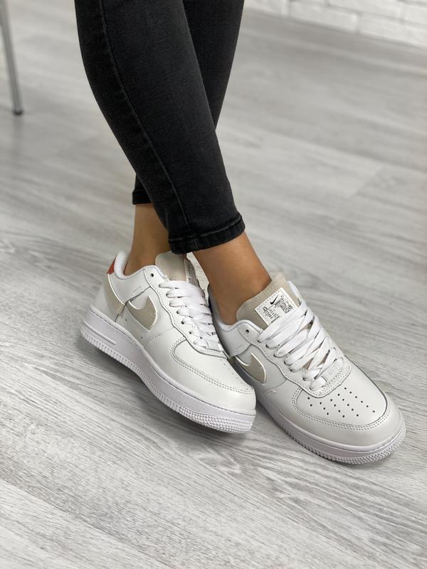 Nike air force 1 low white шикарные женские кроссовки белые цв... - Фото 6