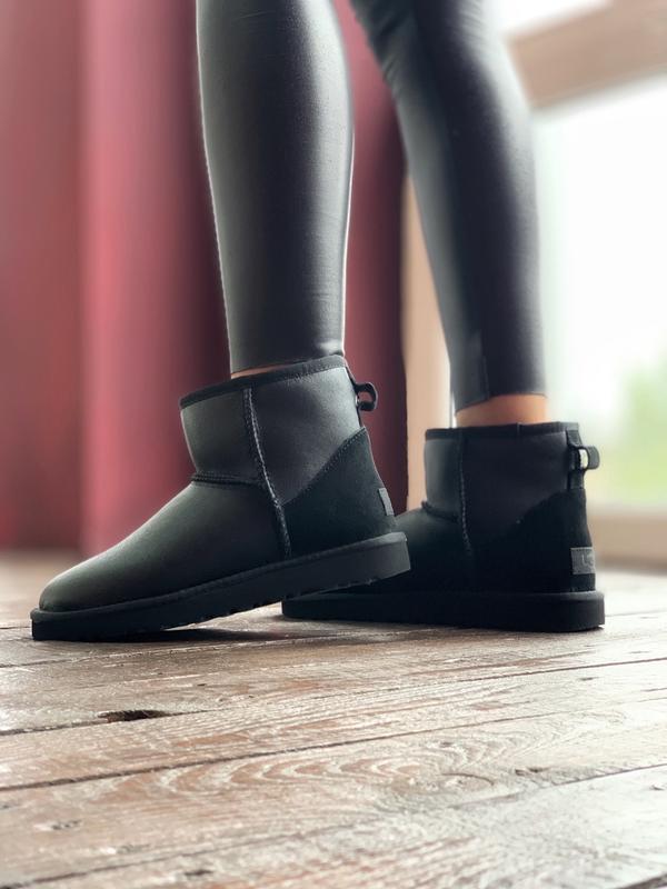 Ugg classic ii mini black шикарные женские сапоги угги теплые ... - Фото 4