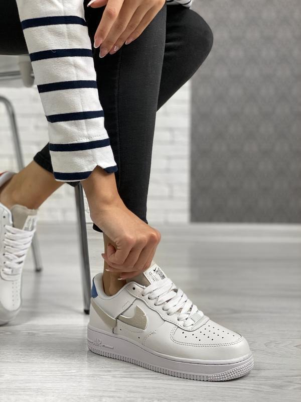 Nike air force 1 low white шикарные женские кроссовки белые цв... - Фото 7
