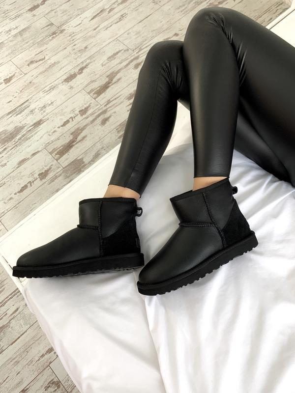 Ugg classic ii mini black шикарные женские сапоги угги теплые ... - Фото 5