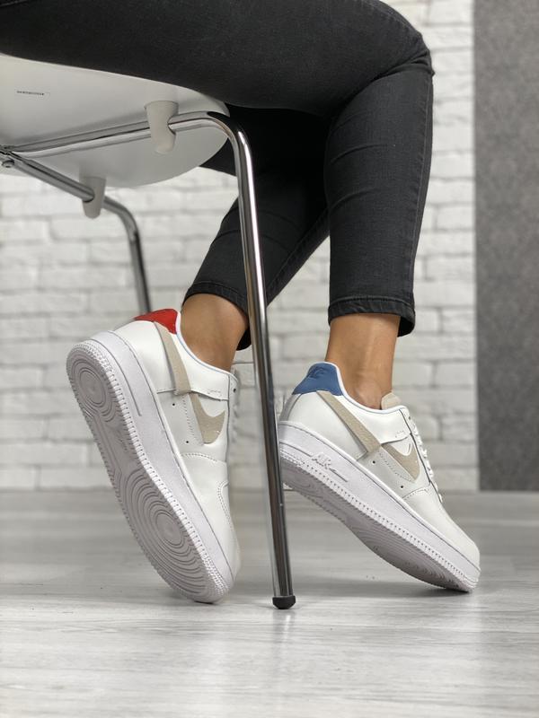 Nike air force 1 low white шикарные женские кроссовки белые цв... - Фото 8
