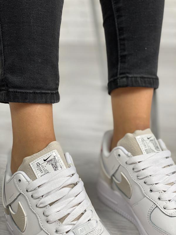 Nike air force 1 low white шикарные женские кроссовки белые цв... - Фото 9