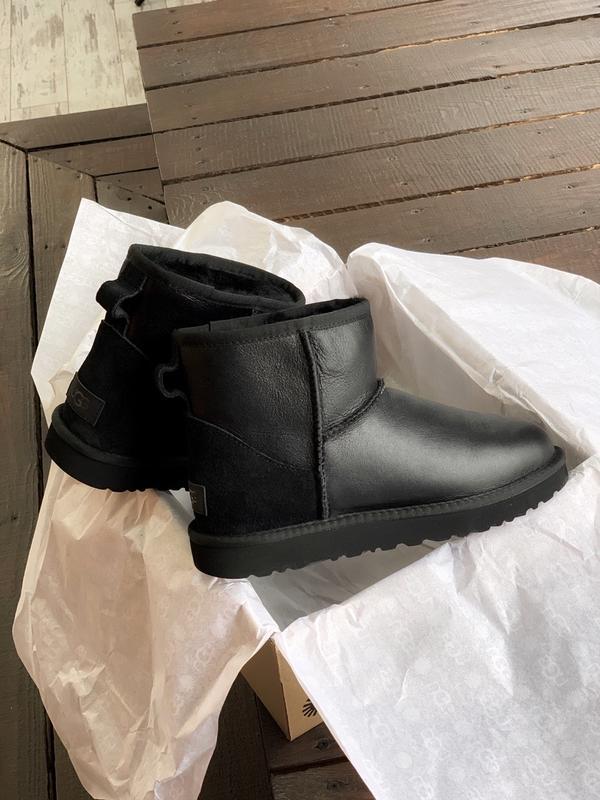 Ugg classic ii mini black шикарные женские сапоги угги теплые ... - Фото 9