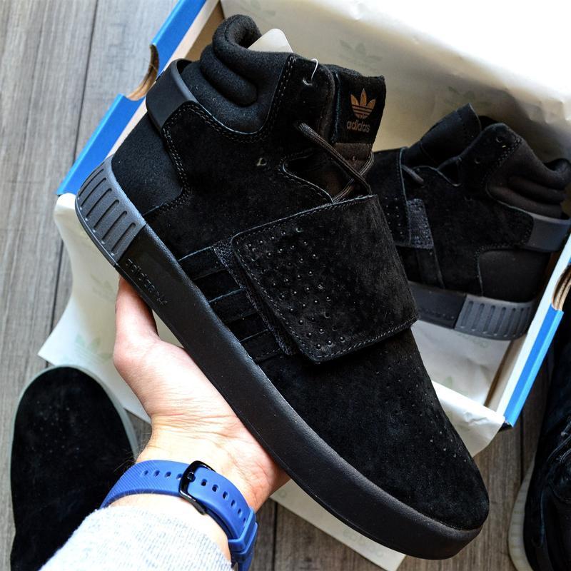 Adidas tubular invader black шикарные мужские кроссовки осень ...