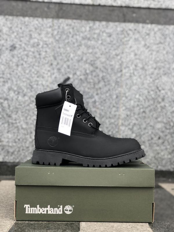 Timberland boots black шикарные женские ботинки с мехом чёрные...