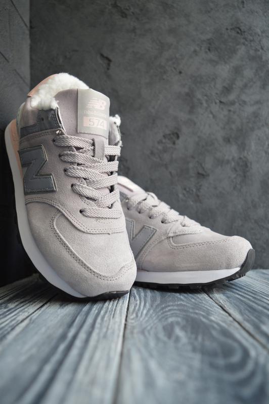 New balance 574 шикарные женские кроссовки с мехом зимние теплые