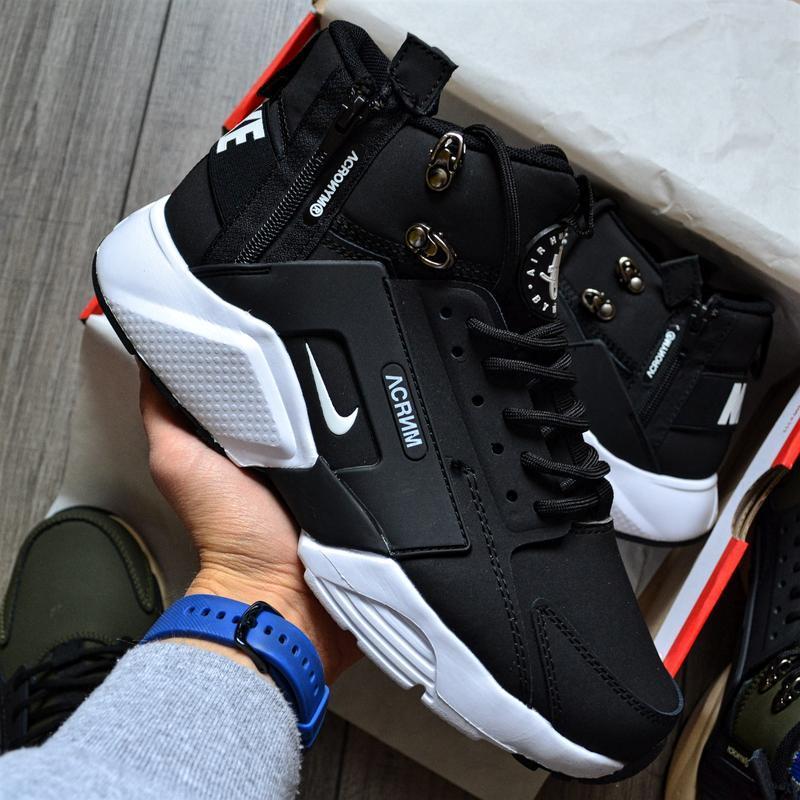 Nike huarache x acronym city mid black white шикарные мужские ...