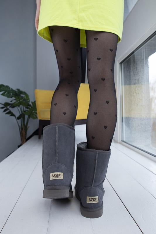 Ugg classic grey 2 замшевые шикарные женские сапоги угги серые... - Фото 3