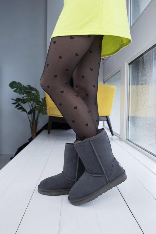 Ugg classic grey 2 замшевые шикарные женские сапоги угги серые... - Фото 4