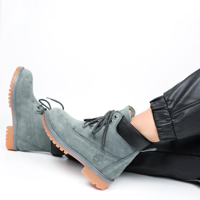 Timberland  boots шикарные женские ботинки с мехом зимние теплые