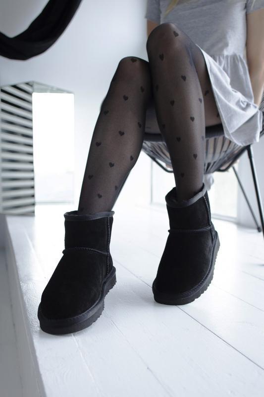 Ugg classic black 2 mini замшевые шикарные женские сапоги угги...