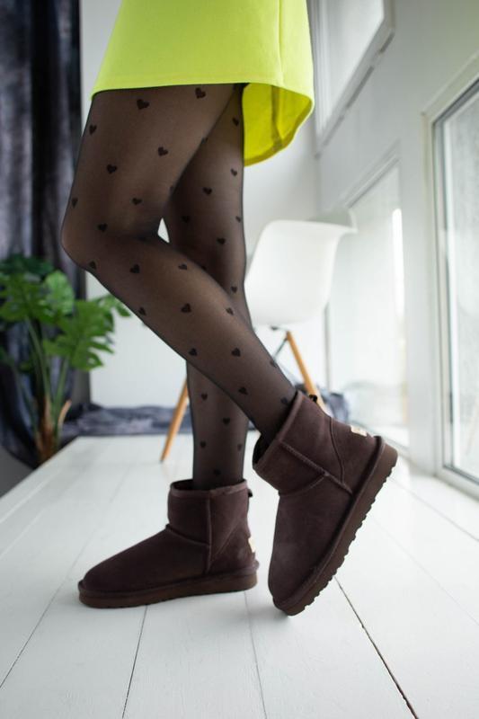 Ugg classic brown 2 mini замшевые шикарные женские сапоги угги...