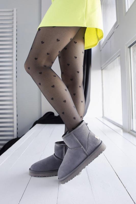 Ugg classic grey 2 mini замшевые шикарные женские сапоги угги ...