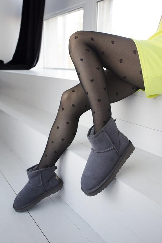 Ugg classic grey 2 mini замшевые шикарные женские сапоги угги ... - Фото 4
