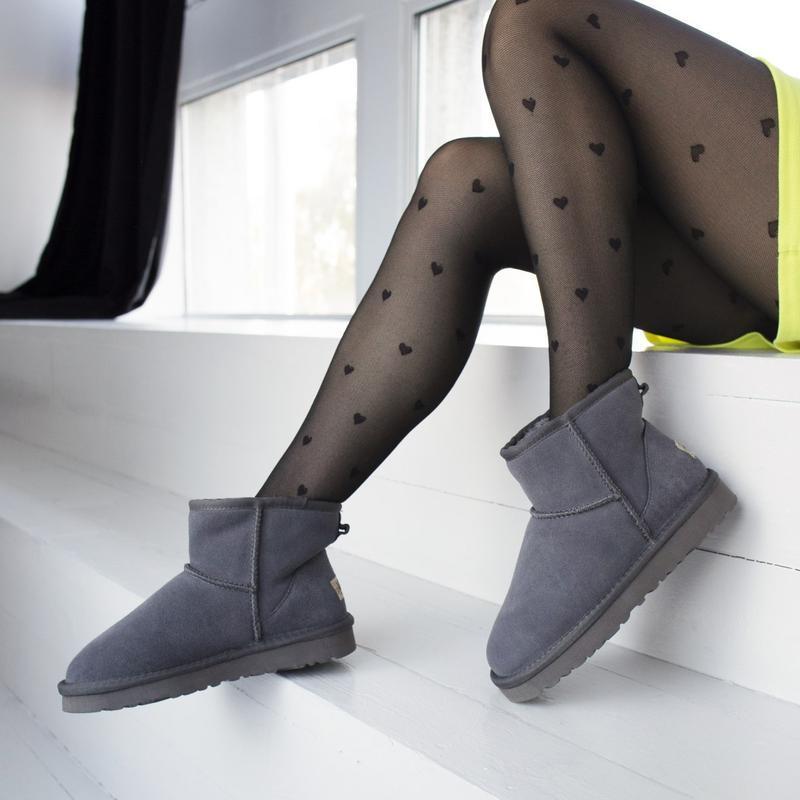 Ugg classic grey 2 mini замшевые шикарные женские сапоги угги ... - Фото 5