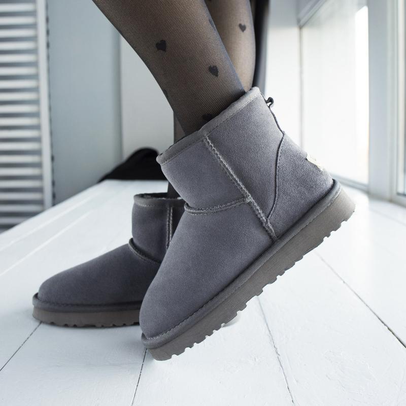 Ugg classic grey 2 mini замшевые шикарные женские сапоги угги ... - Фото 6