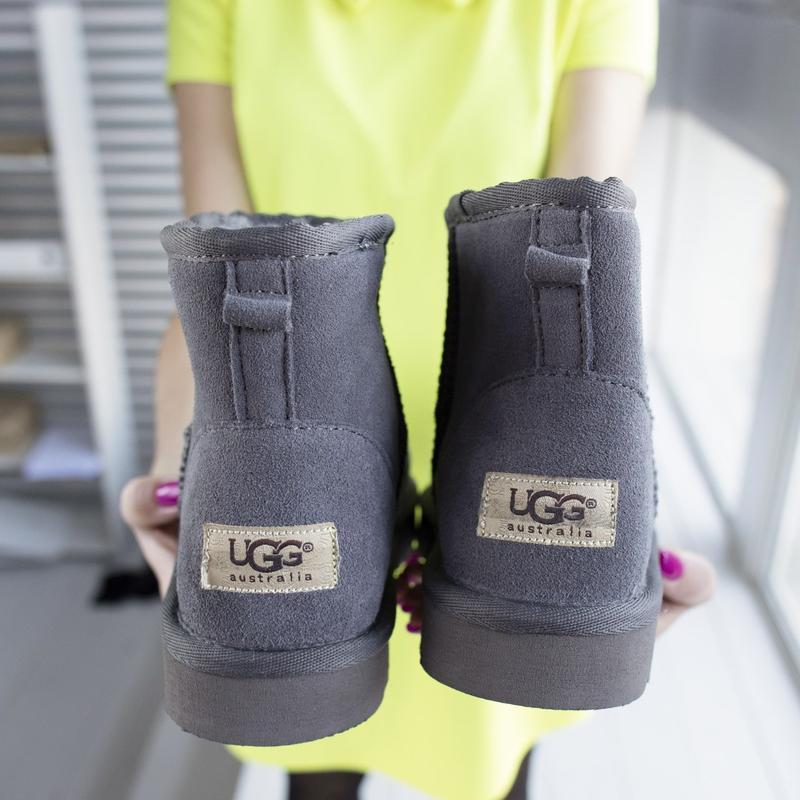 Ugg classic grey 2 mini замшевые шикарные женские сапоги угги ... - Фото 7