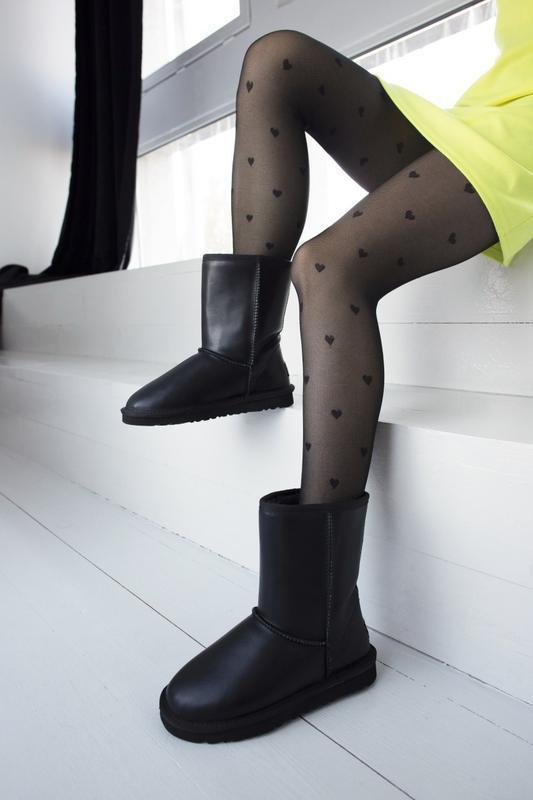 Ugg classic black 2 шикарные женские сапоги угги чёрные с мехо... - Фото 6