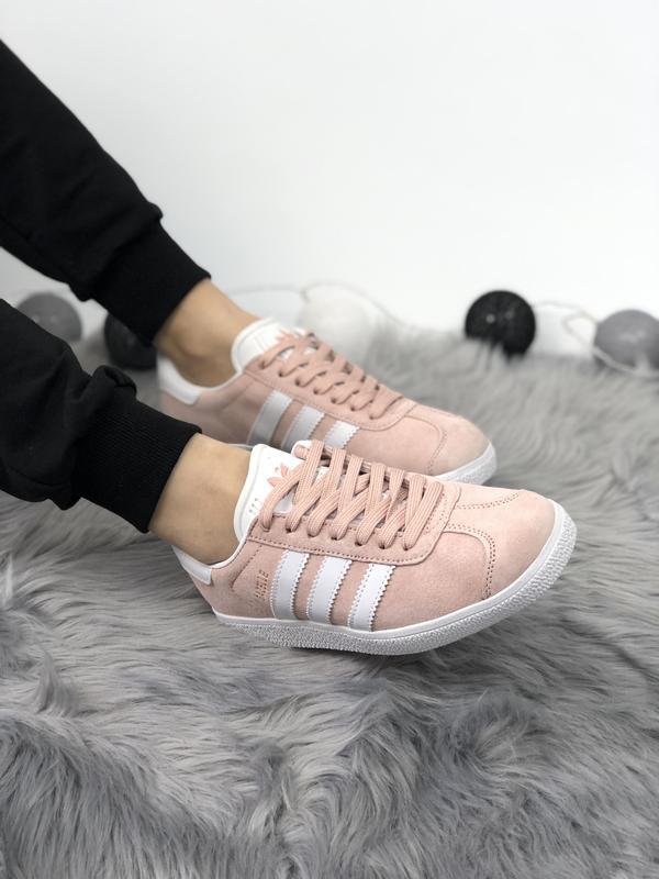 Adidas gazelle pink шикарные женские кроссовки весна лето осень