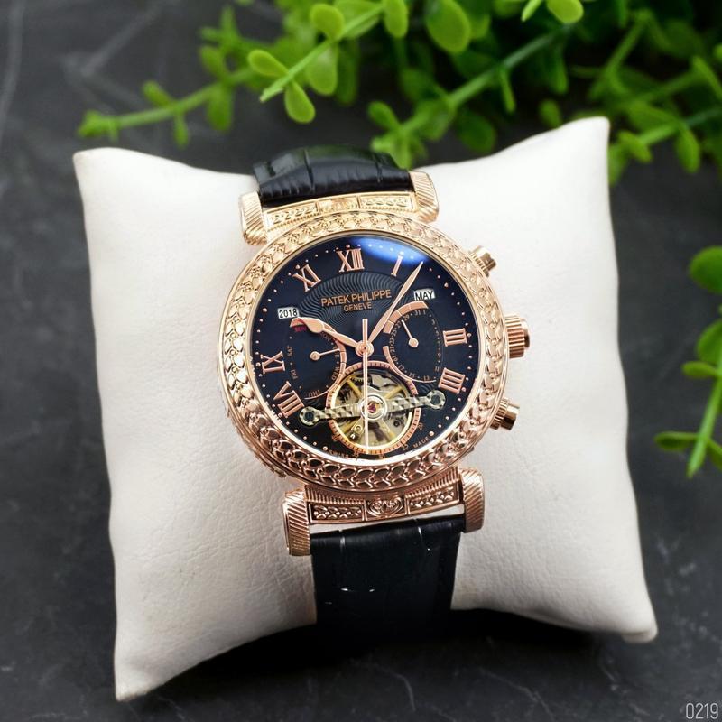 Patek philippe шикарные мужские часы стильные качественные кла...