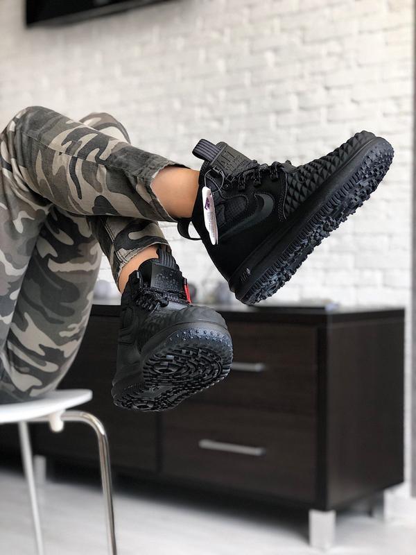 Nike lunar force 1 duckboot black шикарные женские кроссовки о...