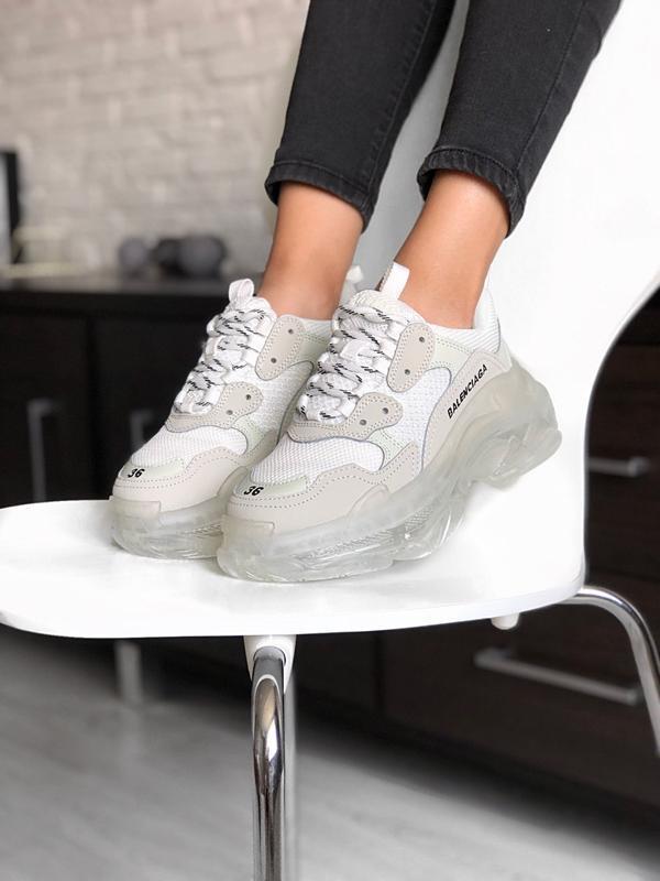 Balenciaga triple s grey шикарные женские кроссовки весна лето...