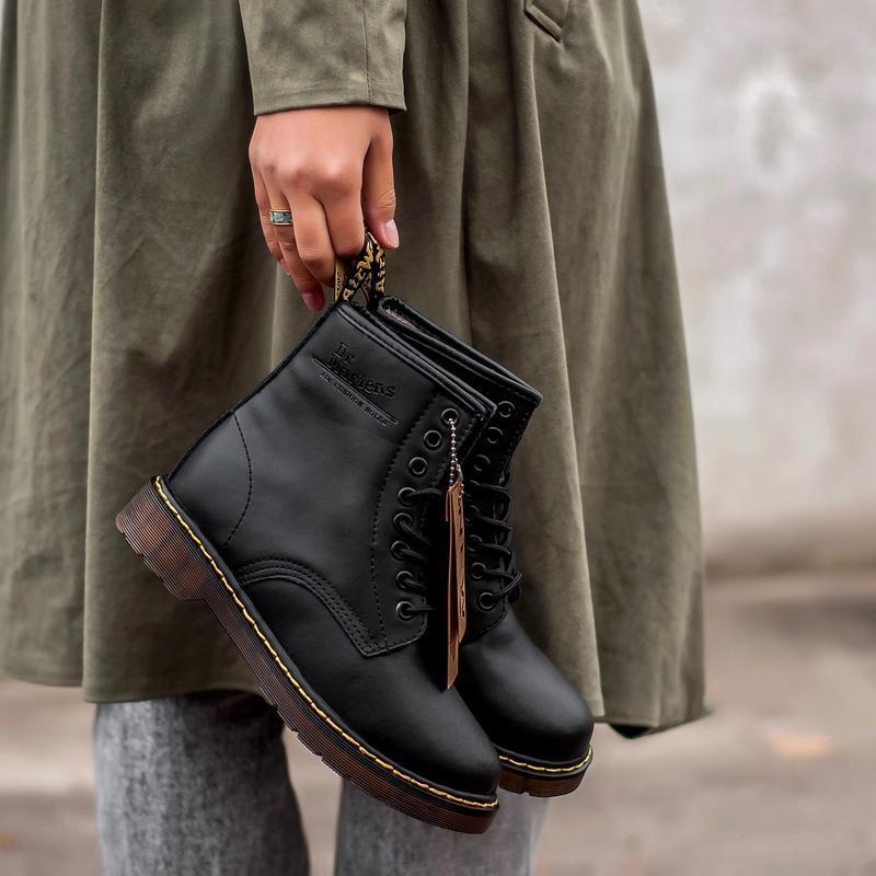 😊dr. martens 1460 fur black🤗 зима на меху женские ботинки с ме...