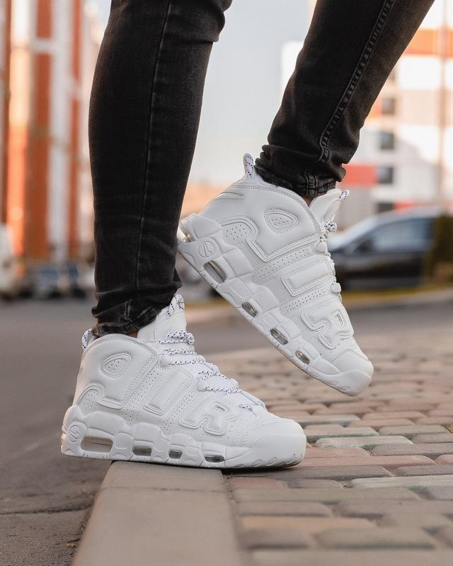 😊nike air more uptempo white 🤗мужские осенние кроссовки зимние...