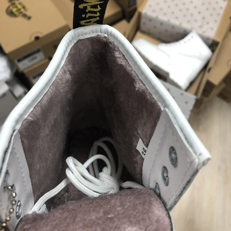 Dr. martens 1460 mono white fur 🤗 шикарные женские ботинки с м... - Фото 2
