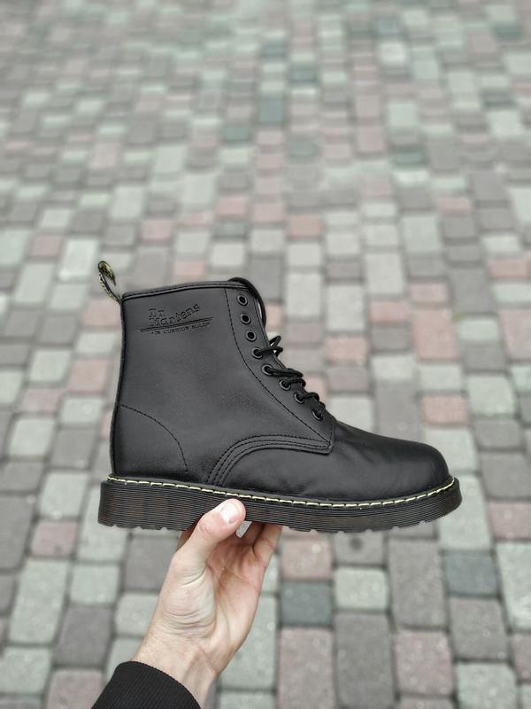 😊dr. martens 1460 black fur🤗 шикарные женские ботинки с мехом ...