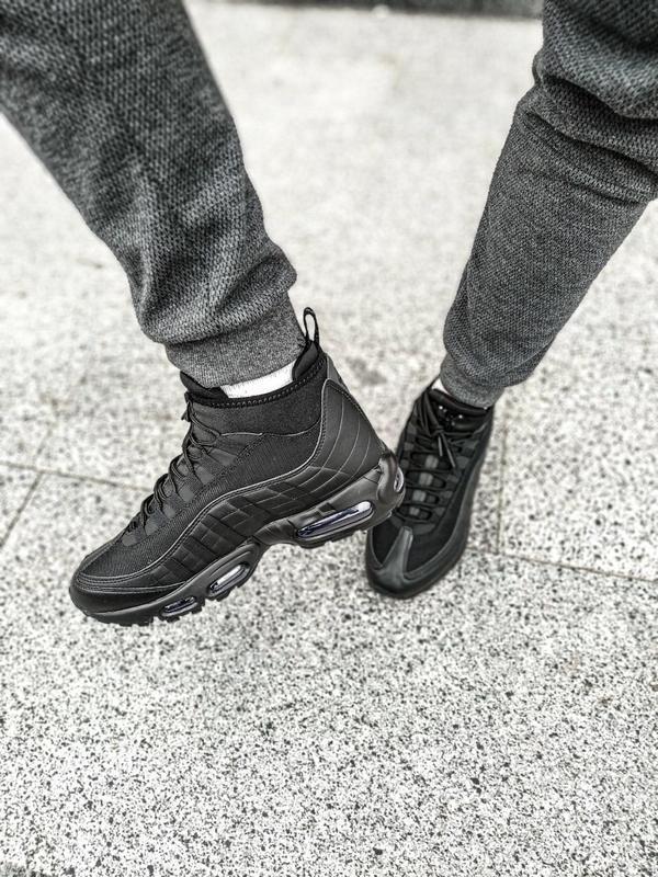 😊nike air max 95 sneakerboot winter🤗 мужские ботинки термо зимние - Фото 3